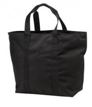X Large Black Zippered Tote