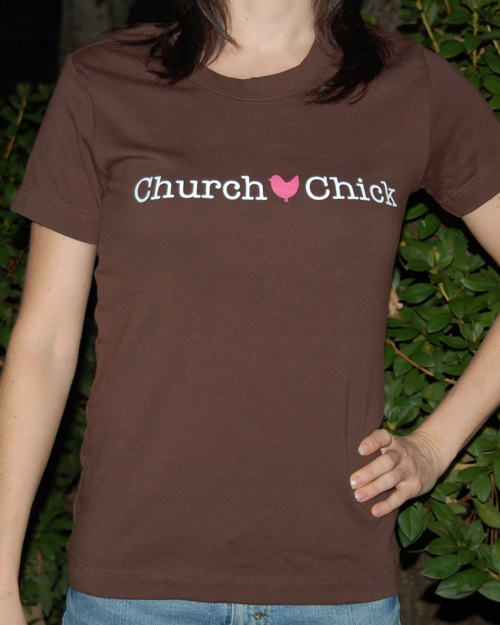 Short Sleeve Logo Tee-Christian tee for women, ladies christian tee, church chick tee, brown christian tee, christian tee, religious tees, christian shirts for ladies, black christian tees