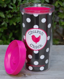 Insulated Travel Tumbler-Christian Insulated Travel Mug for Church Chicks