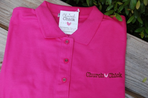 Polo/Golf Shirt-Christian Golf Shirt, Church Golf Shirts, Polo, Polos, Church Chick Golf Shirt, Embroidered Logo Polo Shirt, Embroidered Logo Golf Shirt